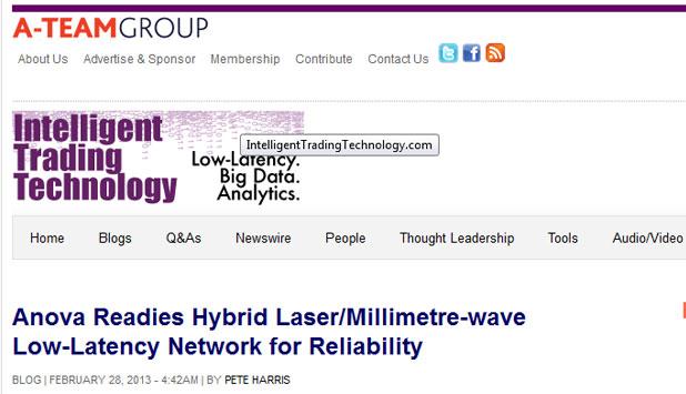 Anova Readies Hybrid Laser/Millimetre-wave Low-Latency